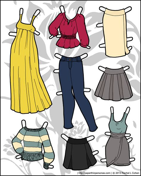How To Make Paper Dolls And Clothes - ms mannequin archives page 3 of 4 paper thin personas