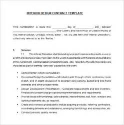 interior decorating contract template 6 interior designer contract templates free word pdf