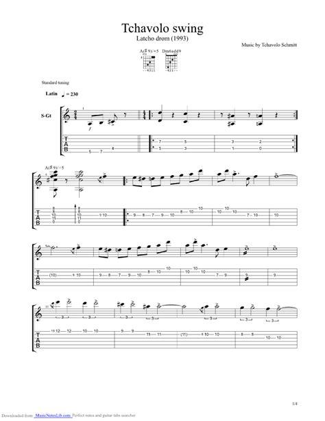 Tchavolo Swing Guitar Pro Tab By Tchavolo Schmitt