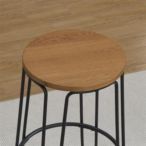 honey oak bar stools temple backless bar stool flat black finish honey oak