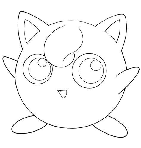 pokemon coloring pages jigglypuff jigglypuff coloring pages getcoloringpages com