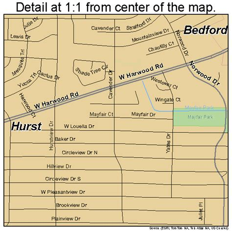 hurst texas map hurst texas map 4835576