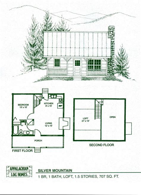 Small Mountain Cabin Floor Plans by Log Home Package Kits Log Cabin Kits Silver Mountain