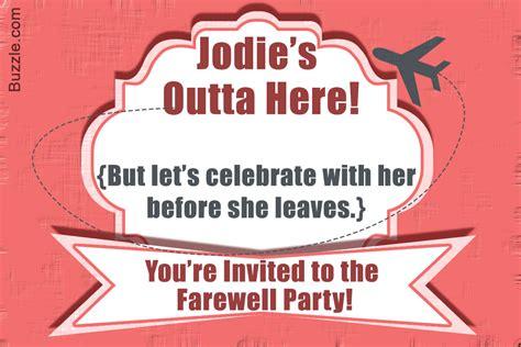 Farewell Dinner Invitation Card