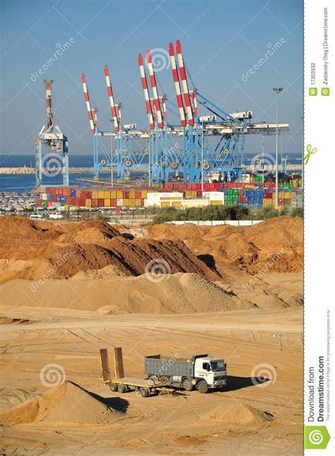 porto di israele porto marittimo di ashdod l israele fotografia stock