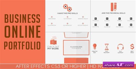 after effects templates free online business online portfolio after effects project