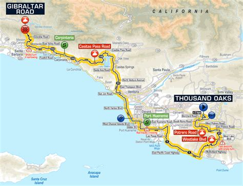 amgen thousand oaks cus map stage route and maps tour of california 2016 pedal dancer 174