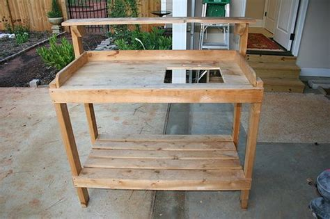 potting bench with sink plans 42 best images about potting benches on pinterest