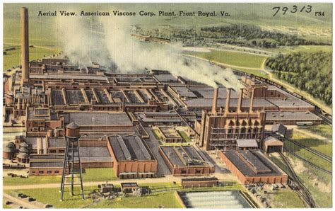 royal virginia file american viscose plant front royal va postcard jpg