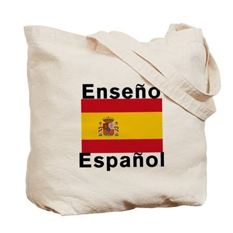 spanish language gifts presents and products hola tote spanish teacher tote bag by scarebaby