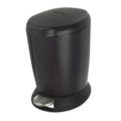 Simplehuman Bathroom Bin Simplehuman Bathroom Pedal Bin 6l Black