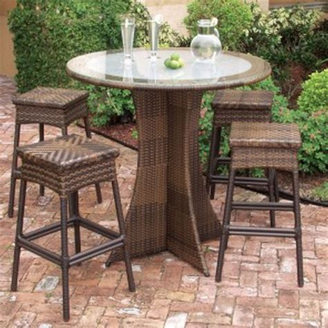 Patio Bar Height Table And Chairs Trying Bar Height Patio Table And Chairs At Home