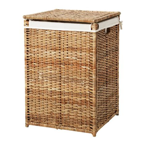 Large Laundry Hers Bran 196 S Laundry Basket With Lining Ikea
