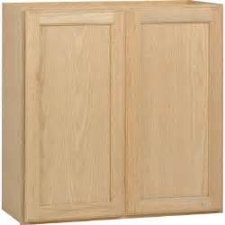 Kitchen Cabinets Unfinished Oak 30x30x12 In Wall Cabinet In Unfinished Oak W3030ohd The