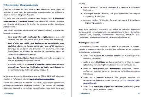 Lettre De Demande De Visa Permanent Guide 171 Ing 233 Nieur En Australie 187 Travailler Et Immigrer