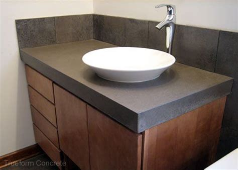 concrete bathroom vanity top concrete vanity top with vessel sink concrete vanity