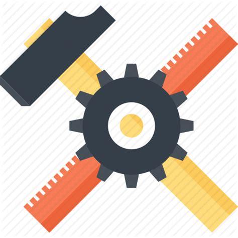 icon design build build design development hammer instrument ruler