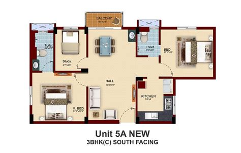 Floor Plans For Small Houses With 2 Bedrooms 2 bhk house plan south facing house and home design