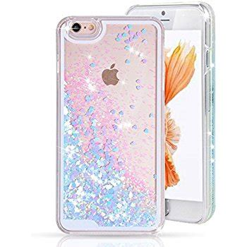 Softcase Iphone 6g Plus 6s Plus Water Glitter Ring Hello Silver transparent liquid purple glitter back for apple co uk electronics