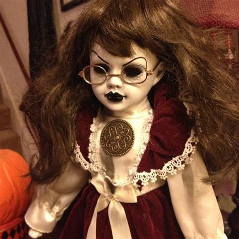 porcelain doll with glasses bastet2329 ooak creepy doll with glasses custom