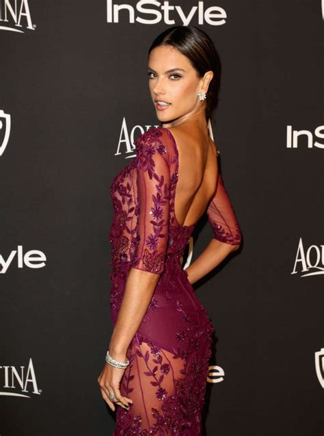 In Style And Warner Bros 2007 Golden Globe After by Alessandra Ambrosio Instyle And Warner Bros Golden