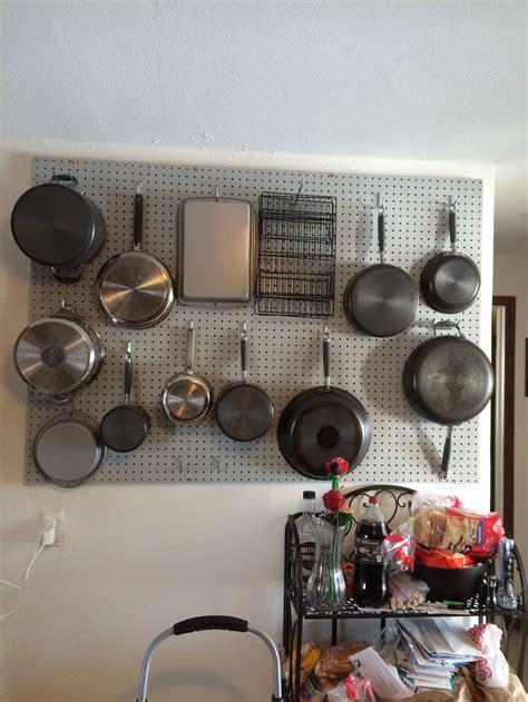 Pegboard Pot Rack pegboard pot rack kitchen pot racks and pots