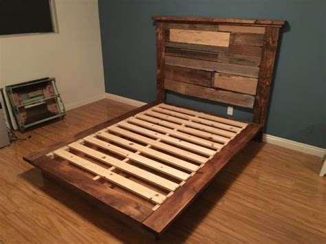 diy rustic bed frame rustic reclaimed platform bed shanty 2 chic