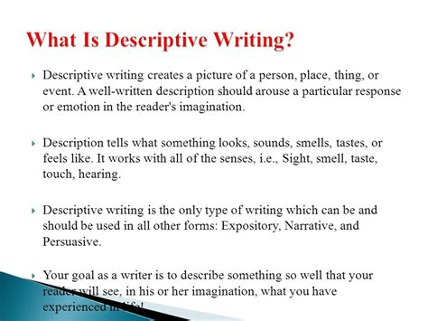 Descriptive Essay About A Person by Descriptive Writing Ppt