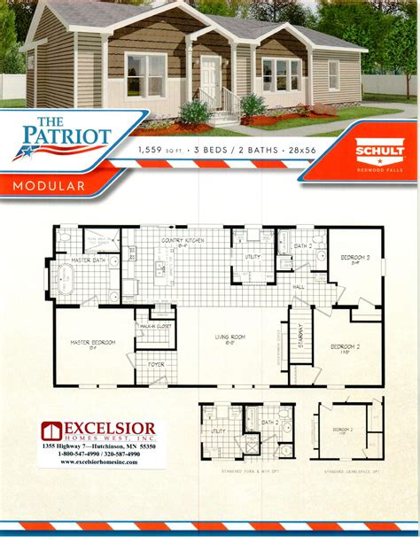 patriot homes floor plans schult homes patriot modular home plan