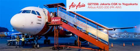 airasia jakarta terminal flight report indonesia airasia a320 from jakarta cgk to