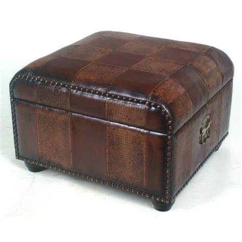 ottoman trunk faux leather ottoman trunk with lid by international