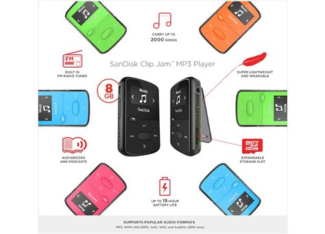 Sandisk Clip Jam mp3 player sandisk clip jam 8gb