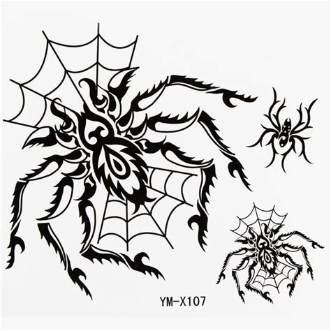 buy tattoo paper online spider totem design insect waterproof temporary tattoo