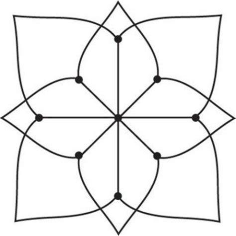 Topi Shape Simple Design simple kolam a kolam is a geometrical line drawing