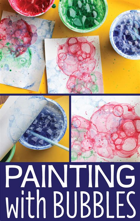 activity for activities for painting with bubbles early