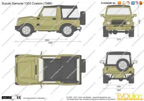 Suzuki Samurai Dimensions The Blueprints Vector Drawing Suzuki Samurai 1300