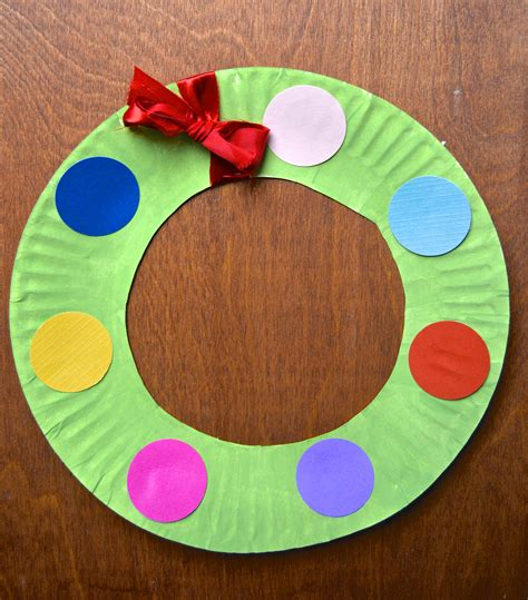 paper plate crafts tree and wreath