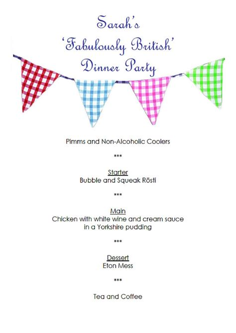 come dine with me menu template come dine with me s fabulously dinner