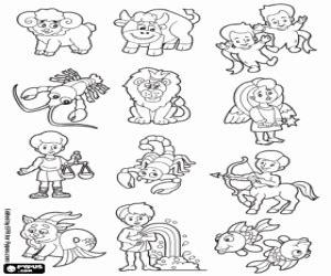disegni di oroscopo da colorare e stampare