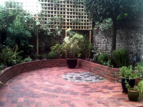 outdoor beautiful brick courtyard designs ideas covered