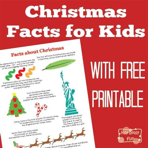 fun christmas facts for kids kid christmas facts and