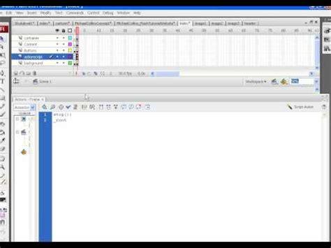 flash tutorial for website flash tutorial creating a flash website part2 michael