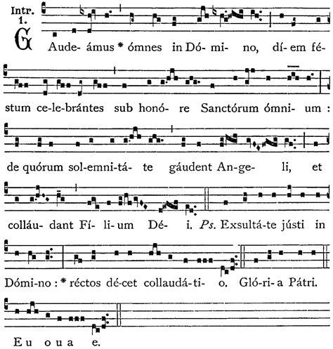me compare giacometo testo gaudeamus sub honore sanctorum introito gregoriano
