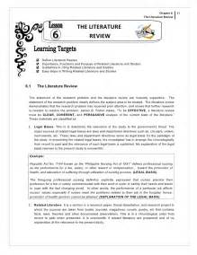 Review Of Related Literature And Studies Format by How To Write Literature Review For Thesis Exle