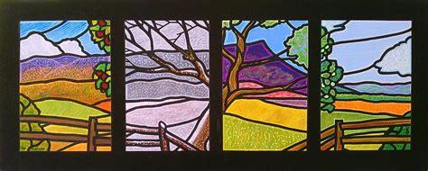 All Seasons Duvet Four Seasons Painting By Jim Harris
