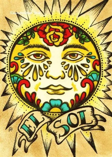 el sol banner nice sun old roses tattoo golfian com