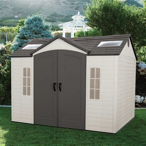 Lifetime Garden Shed by Lifetime Side Entry 10 Ft W X 8 Ft D Plastic Storage
