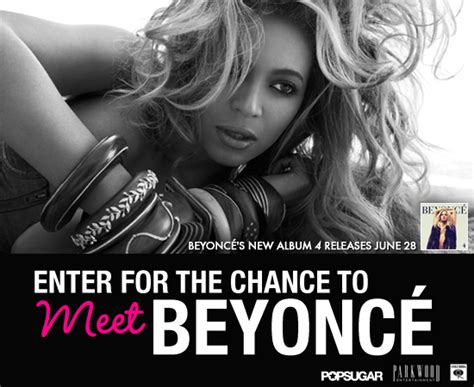 Sweepstakes To Meet Celebrities - contest to meet beyonce popsugar celebrity