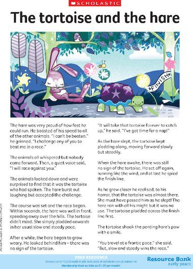 The Tortoise and the Hare ? traditional story ? FREE