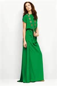 sukienki zielone zielona bardzo długa sukienka wallis z kr 243 tkimi rękawami